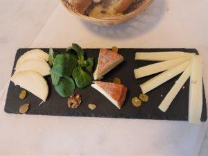 白ワイン用チーズプレート